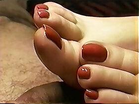 foot porn - Cailleach Mara Red Nail Toejob Footjob