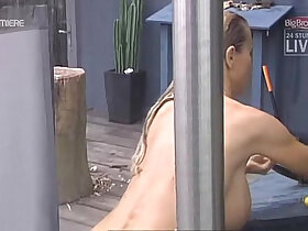 brother porn - Big Brother aninna bettie outdoor shower