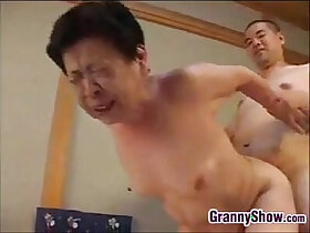blowjob porn - Japanese Grandma Giving Great Blowjob