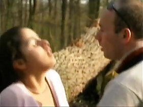 amateur porn - FRENCH CASTING petite brunette amateur teen in a forest.More