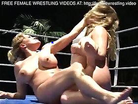 boobs porn - Nice boobs lesbians wrestling
