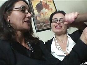 double porn - Double Milf Stroking