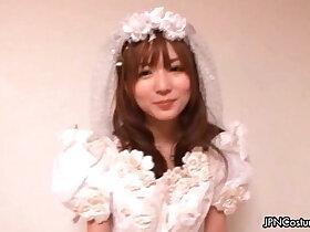 bride porn - Sexy Japanese cosplay bride loves