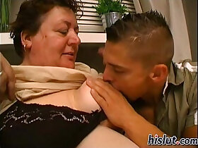 granny porn - Slutty granny gets pounded by a young stud