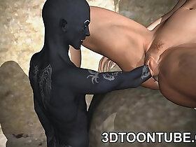 3d porn - 3D toon elf babe gets fisted and fuckced hard
