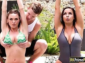 amazing porn - Busty milfs Dana and Krissy amazing