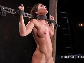 busty porn - Toned busty slave dp toyed