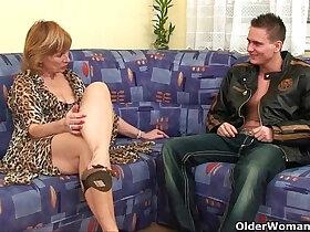 cock porn - Cock crazed grandma fucks all the guys