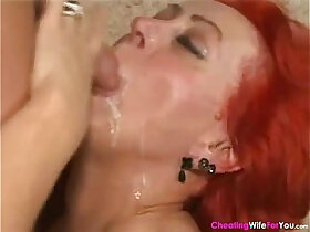 cock porn - Red Hair Housewife Ridding on Young Cock