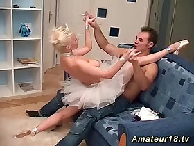 balls porn - flexi skinny ballerina sex