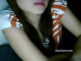 asian porn - Fair cute Asian webcam stripping