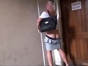 flashing porn - Mature wifes public voyeur adventures and outdoor masturbation of flashing old a