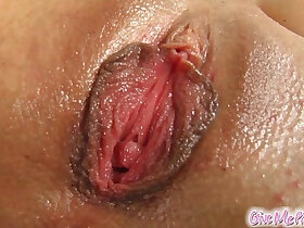 close up porn - Give Me Pink Wivien leaves no holes with toys
