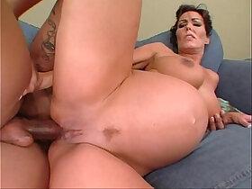 anal porn - Nancy Vee pregnant interracial anal