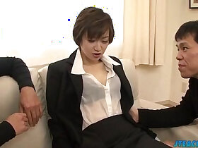 asian porn - Great office xxx play for lustful Akina Hara
