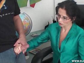 handjob porn - Milf handjob at the office
