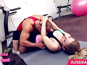 blonde porn - Cute blonde Madison has sex with her personal trainer at the gym