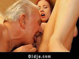 grandpa porn - Old man receives young pussy sexual thanking