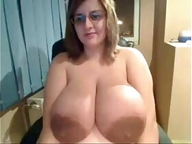 boobs porn - Ugly Chick shows off insanely massive tits