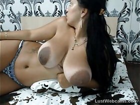 busty porn - Busty latina with big areolas teasing on cam