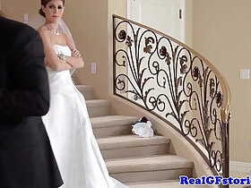 bride porn - Stunning bride facialized by her Photographer