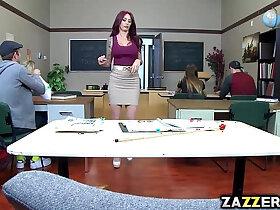 blowjob porn - Monique Alexander gives a hot teacher blowjob