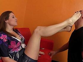 domination porn - Mistress Shauna dominates her foot slave