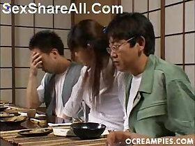 asian porn - Asakawa Rei Jerks Off Her Dates Under The Dinner Table