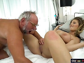 19 year old porn - 19 yo Aida Swinger pussy and ass eaten and banged by grandpa