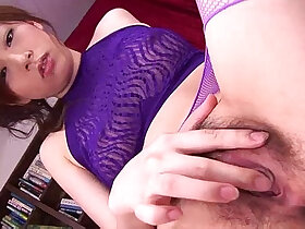 dick porn - Keito looks sexy in her purple lingerie sucking on a hard long dick