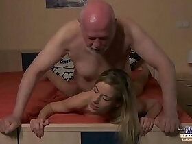 amateur porn - Young Secretary evaluation old man boss fucks beautiful horny young amateur girl