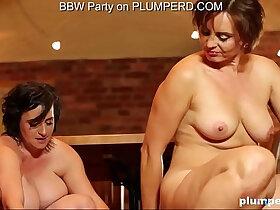 boy porn - Mature Fat Ladies enjoying the cleaning boy