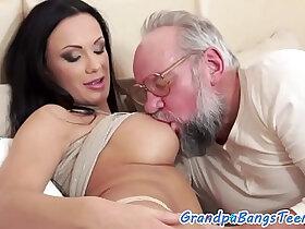 beauty porn - Teen beauty pleasured by lucky grandpa