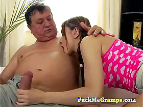 old man porn - She really likes the old man