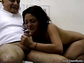 blowjob porn - Daughter Massages Father Then Blowjob