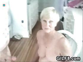 blowjob porn - Naughty Granny Gives Her Man A Blowjob