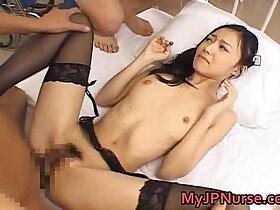asian porn - Aino Kishi Asian nurse spreads legs