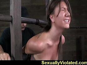 bondage porn - Bondage device makes her immobilized