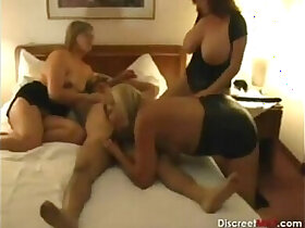 fun porn - Mature Housewives Triple Fun With her Young Man