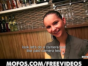 czech porn - Stunning Czech bartender is paid for a sex session at work