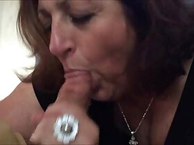 amateur porn - Sexy Amateur Granny sucks a hard big cock
