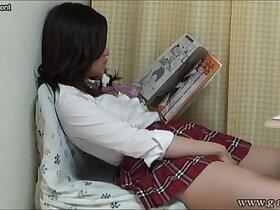 cams porn - Aki Kawana Masturbation reading a naughty book