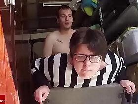 amateur porn - She jumps like a pig in the storage. Homemade amateur voyeur spycam