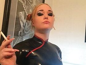 doll porn - PRINCESS DOLL SMOKING FETISH IN LATEX FINDOM