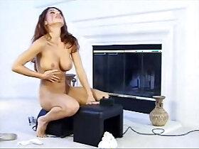 hottie porn - Hottie rides Fucking Machine until orgasm