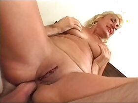 anal porn - dana hayes shaved granny does anal nice 50