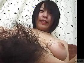 amateur porn - Subtitled Japanese amateur naked body check pubic hair focus