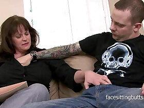 mature porn - The heavily tattooed young stud fucks mature private tutor