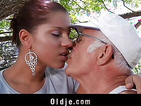 big cock porn - Big dick oldman fucks his much younger sexy girlfriend