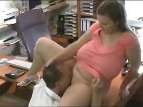 busty porn - Busty secretary in the office
